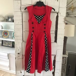 Igor pin up couture retro style dress Small